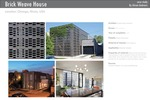 Brick Weave House in Chicago, Illinois by Studio Gang Architects