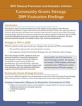 MFP TPCI Evaluation Report Brief 5: Community Grants Strategy 2009 Evaluation Findings