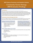 MFP TPCI Evaluation Report Brief 6: Community Grants Strategy 2010 Evaluation Findings