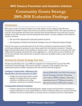 MFH TPCI Evaluation Report Brief 7: Community Grants Strategy 2005-2010 Evaluation Findings