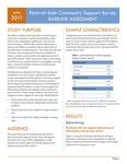 POS Community Support Survey: Baseline Assessment