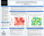 Suicide and Access to Mental Health Resources An Analysis of Wyoming Counties for the Year 2012