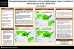 Geospatial comparison of incidence of oral and pharyngeal cancers and tobacco and alcohol use in the United States