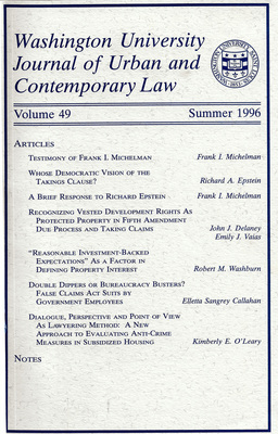 Journal of Urban and Contemporary Law