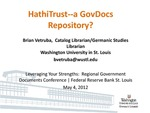 HathiTrust -- A Gov Docs Repository?