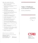 Today's Challenges to Economic Freedom