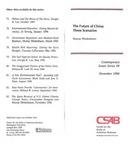 The Future of China: Three Scenarios